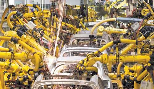 علم رباتیک و انواه ربات ها، ربات در خودروسازی